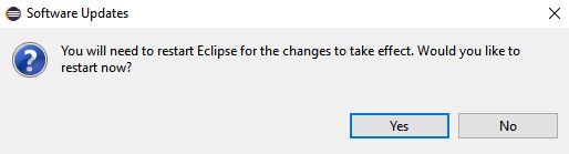 after uninstallation asking for Eclipse IDE restart