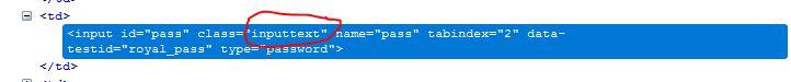 inputtext class name