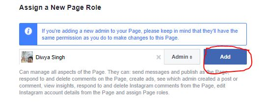 how to add someone as an admin on facebook page