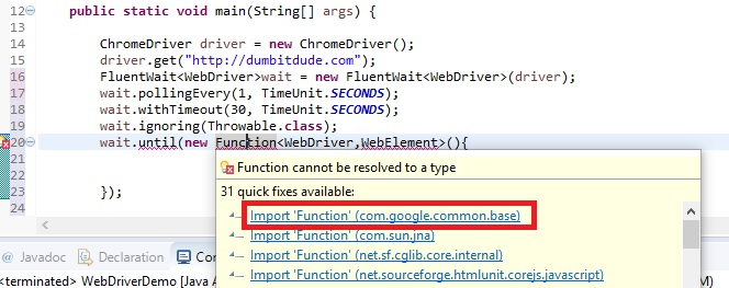 import from google common base