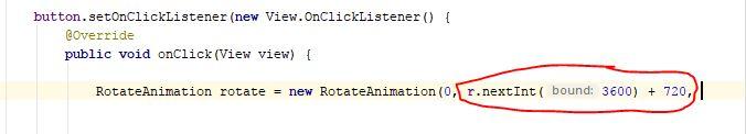 random class method nextInt