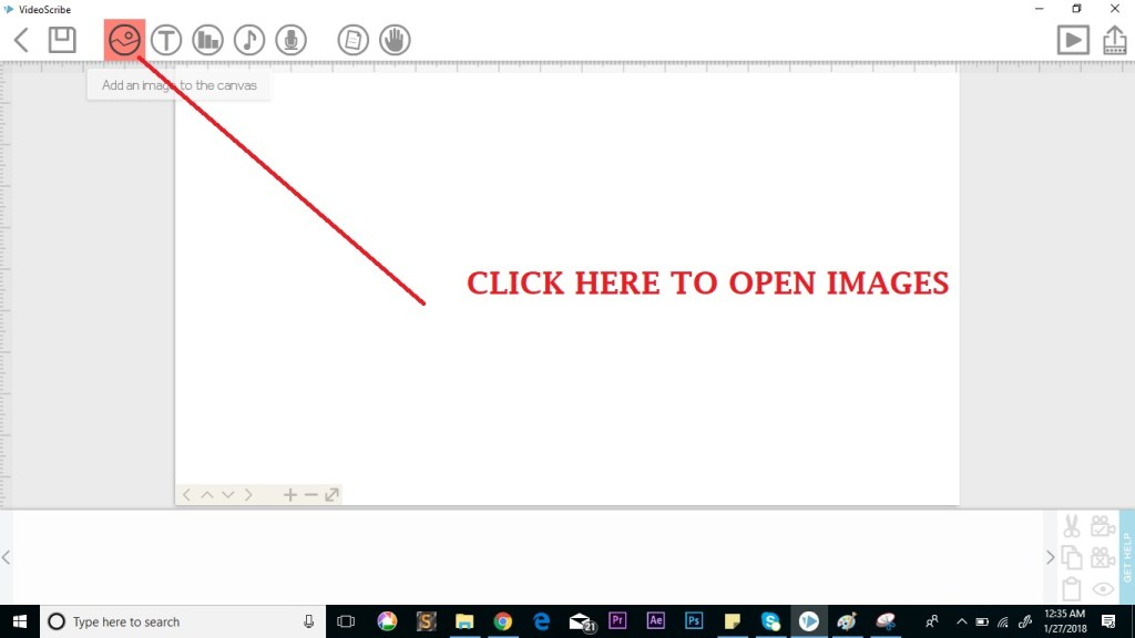 opening images in videoscribe
