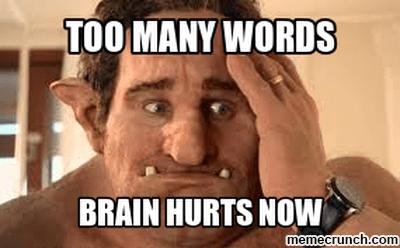 too many words meme
