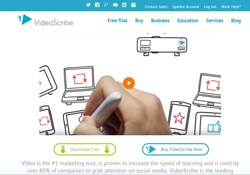 videoscribe website download free