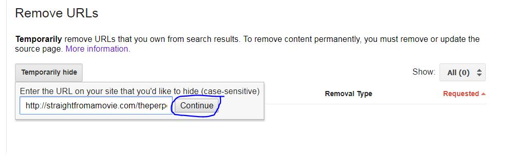click on continue button