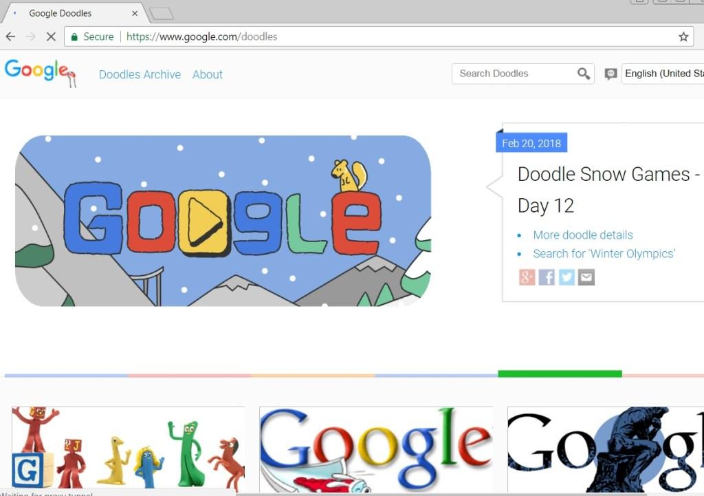 google doodle page result
