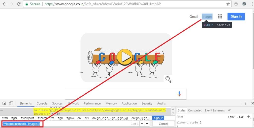 google images link's xpath