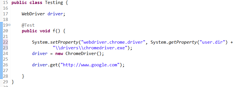 existing code for get URL