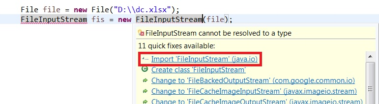 import FileInputStream io package