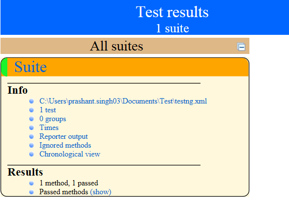 index.html file suite results