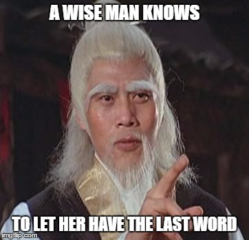 wise man meme for the last word