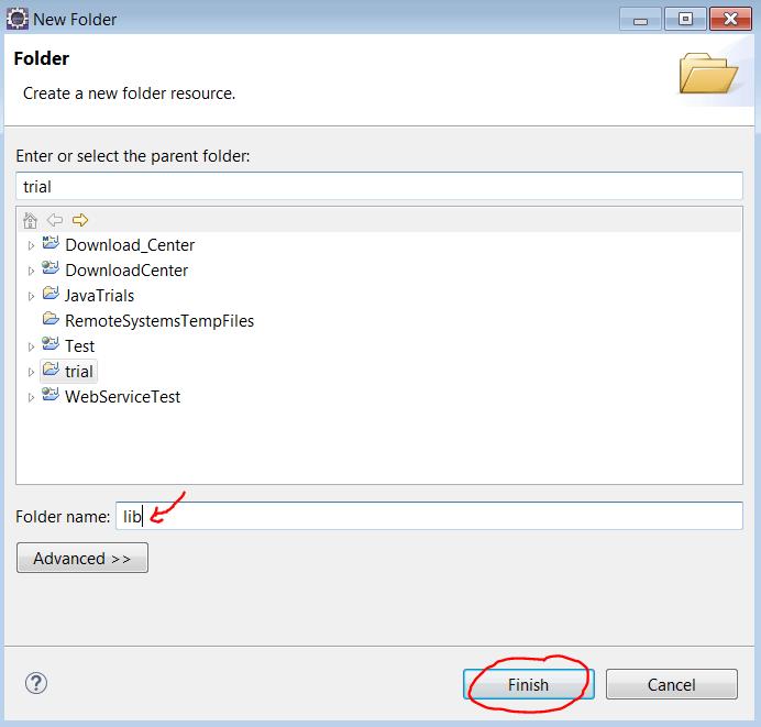 lib folder named