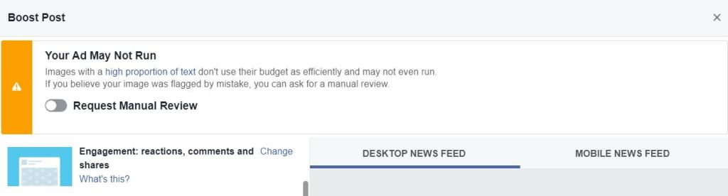 How to Check Facebook Ads for 20% Text Overlay your ad may not run warning