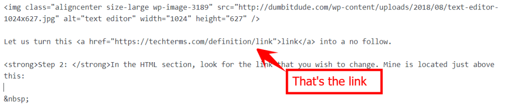 link in html