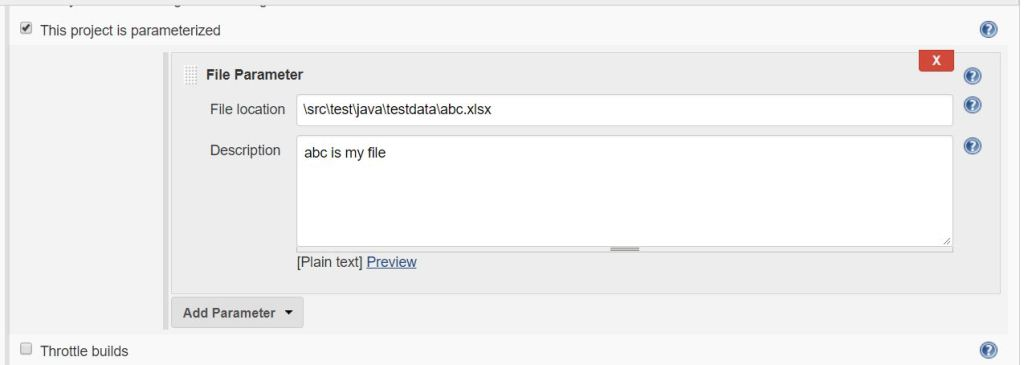 save parameter entering file location
