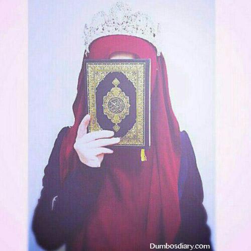 Arab girl with Quran dp