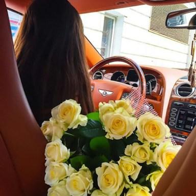Flower girl driving