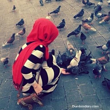 Humble muslim girl