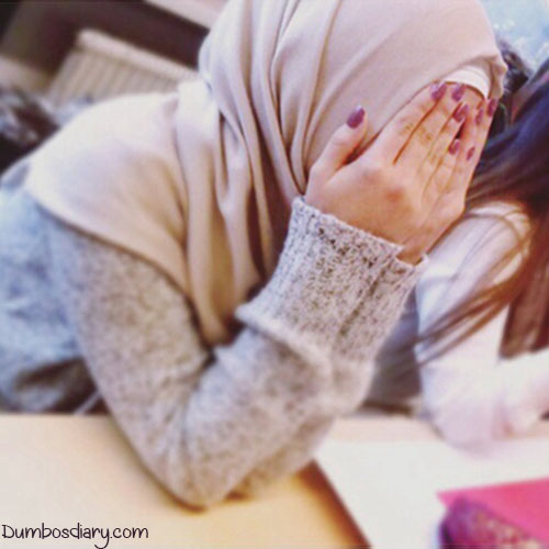 Muslim girl hidden face dp