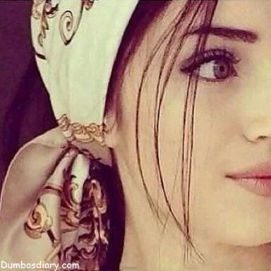 Pretty girl face closeup