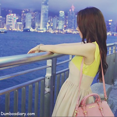 Pretty girl on sea sight