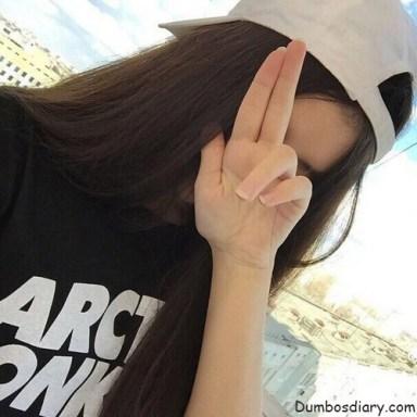 attitude girl with cap
