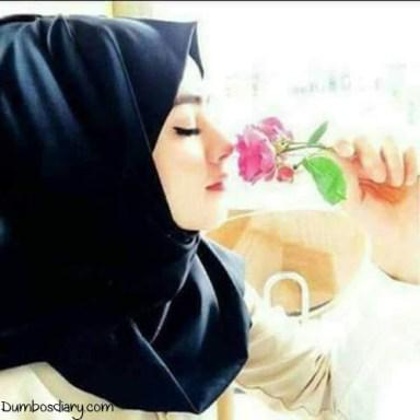 beautiful girl in bllack hijab