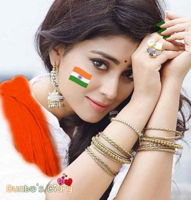 beautiful indian girl republic day dp