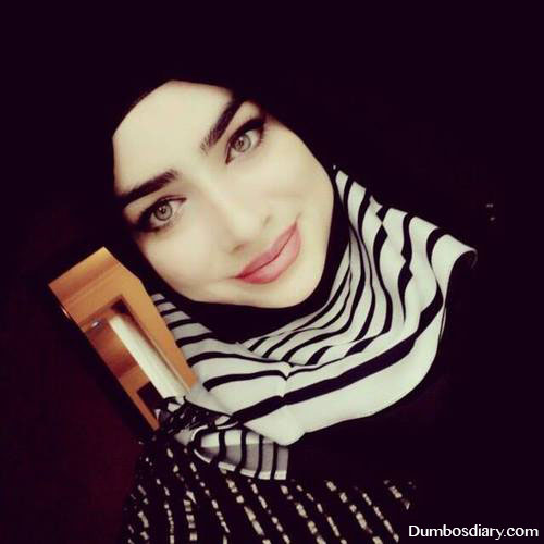 black hijab pretty girl dp