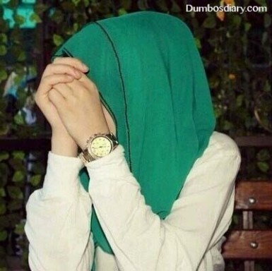 muslim girl with green hijab