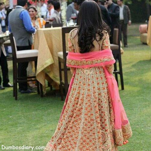 pretty girl in wedding