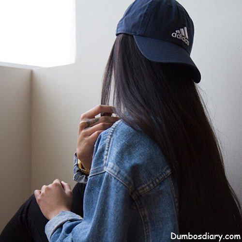 stylish girl with branded cap