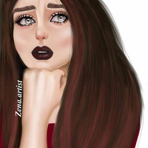 Sad girl crying
