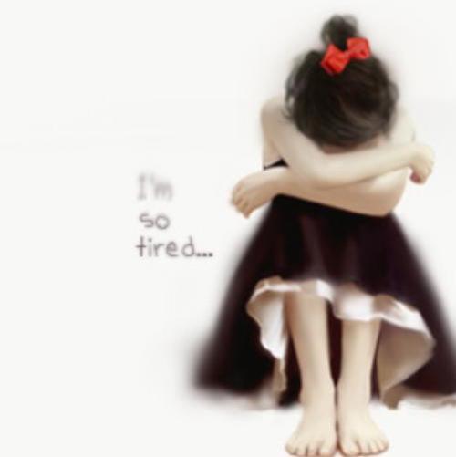 alone girl crying