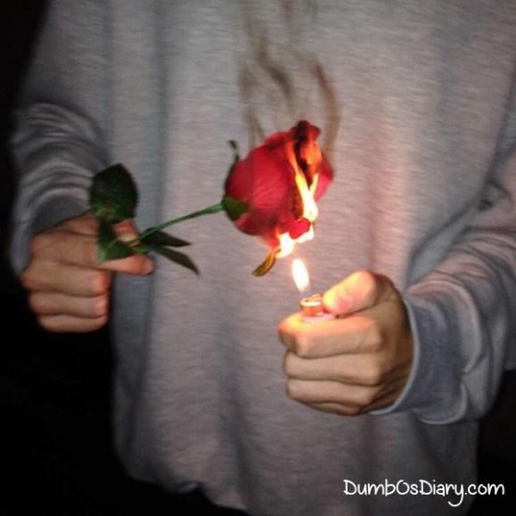 Guys Holding Roses