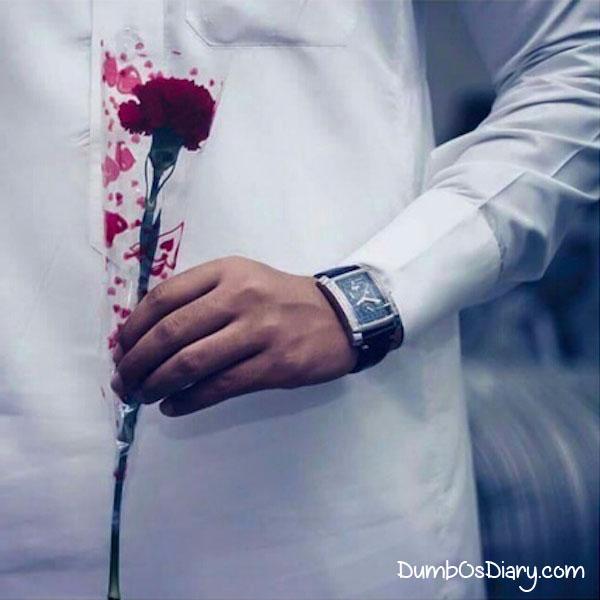 Social Media DP For Dashing Guys Holding Roses