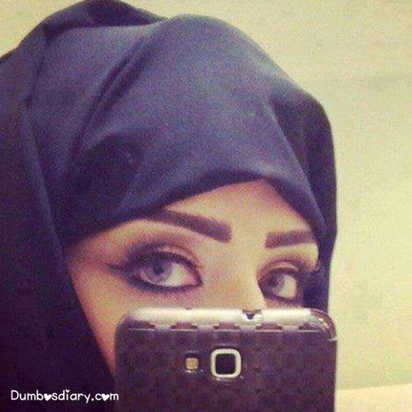 Hiding Girl Face Hijab Cute Profile