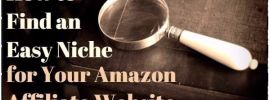 How to Find an Easy Niche for Your Amazon Affiliate Website