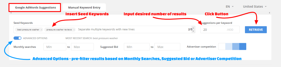 LTP - Keyword Inputs - Google Adwords Suggestions