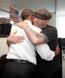 Josh Higgins Hugs Some Guy Named Barack