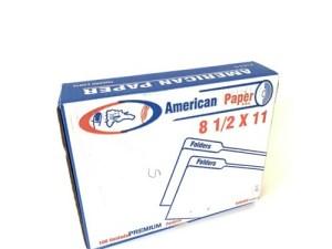 CAJA FOLDER AMERICAN PAPER