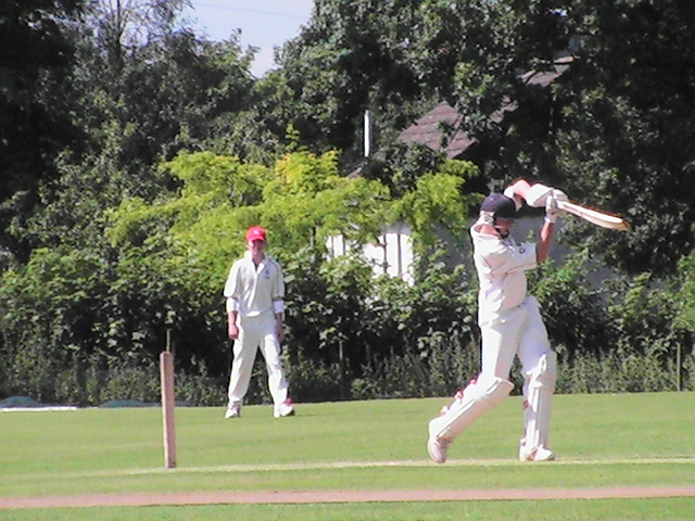 Chris Bellwood on his way to a century at Nunholm