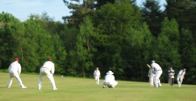 Nunholm XI enjoying a day's cricket at Gatehouse