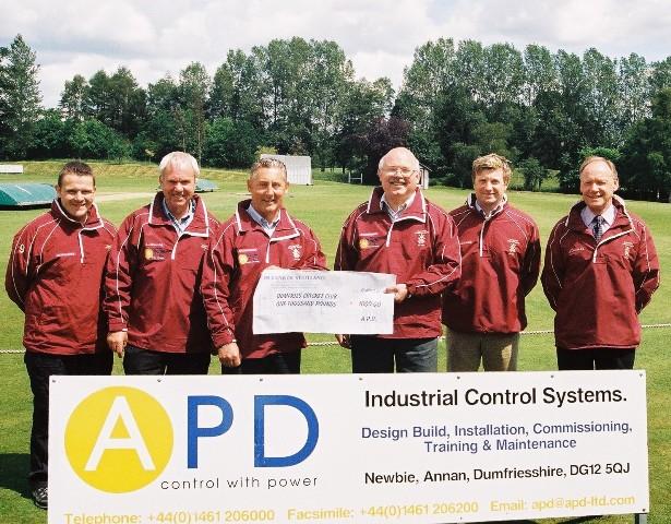 APD Ltd of Newbie sponsors Dumfries in 2009