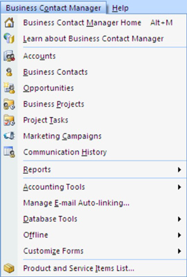 Business Contact Manager in Outlook 03 - Dell Community