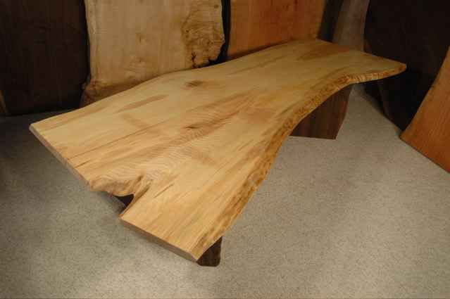 6' Ash Crotch Slab Custom Coffee Table: Dumond's Custom