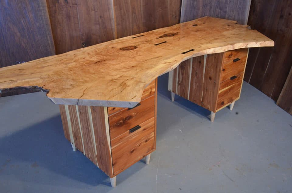 Curly Maple Desk