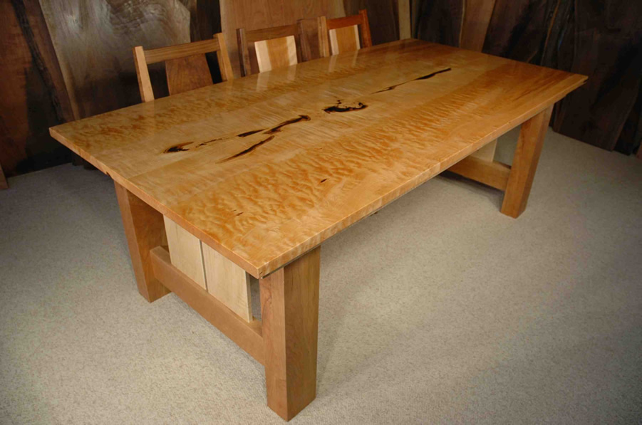 7 Custom Quilted Maple Dining Table Dumonds Custom