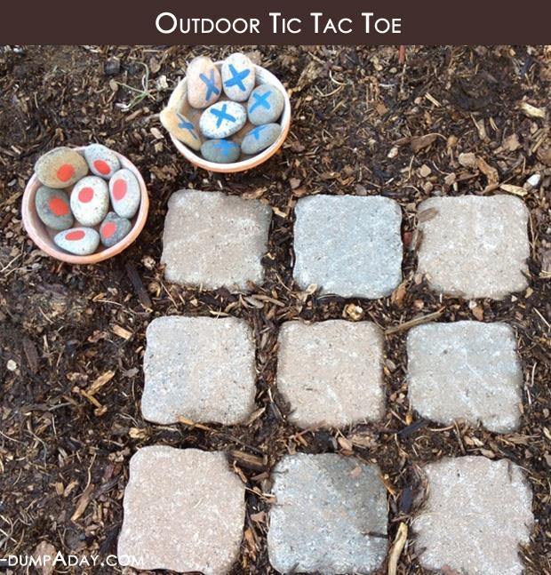 Tic Tac Toe In Your Garden Fun Ideas  Dump A Day