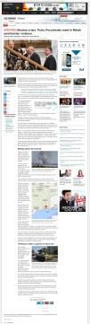 UPDATED Ukraine crisis: Putin, Poroshenko meet in Minsk amid border violence [archived v3] Shelling rocks southeastern Ukraine town of Novoazovsk The Associated Press Posted: Aug 26, 2014 5:52 AM ET Last Updated: Aug 26, 2014 10:19 AM ET
